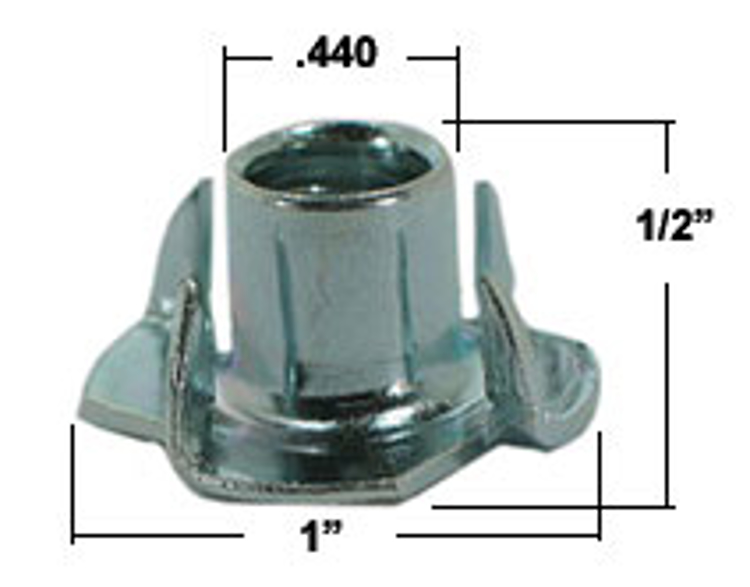 Picture of STAINLESS STEEL T-nut (4-Prong SS)