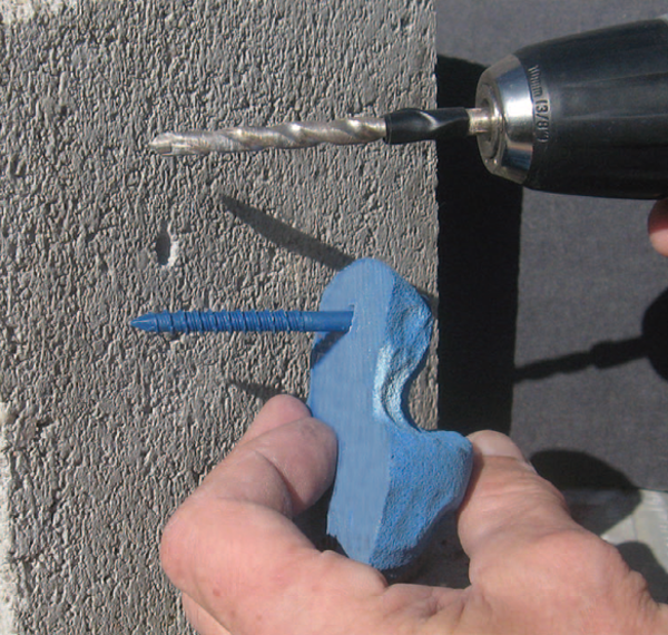 Picture for category #14. How to Install Screw-On Holds to Concrete