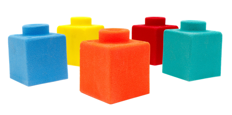 Picture of 5 Single Sensory Blocks (Bolt On)