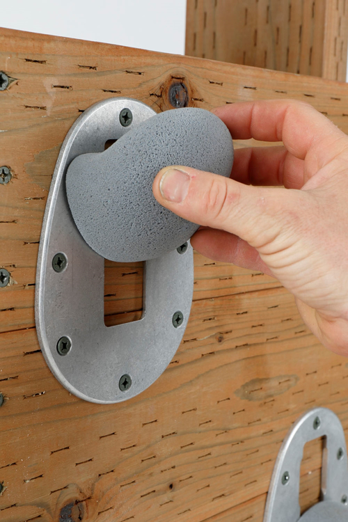 Picture of Removable Climbing Hold with Complete Bracket (One Hold Only With Key and Metal Baseplate Installed)