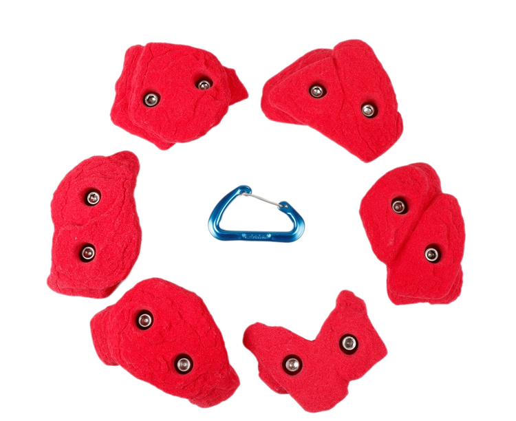 Picture of 2 Bolt Playground Climbing Holds - Granite - 6 Pack