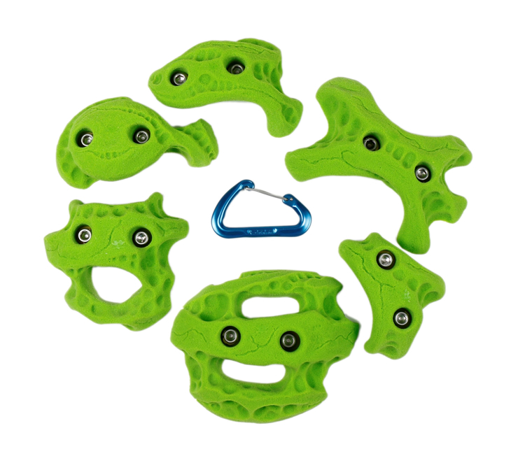 Picture of 2 Bolt Playground Climbing Holds - Limestone - 6 Pack