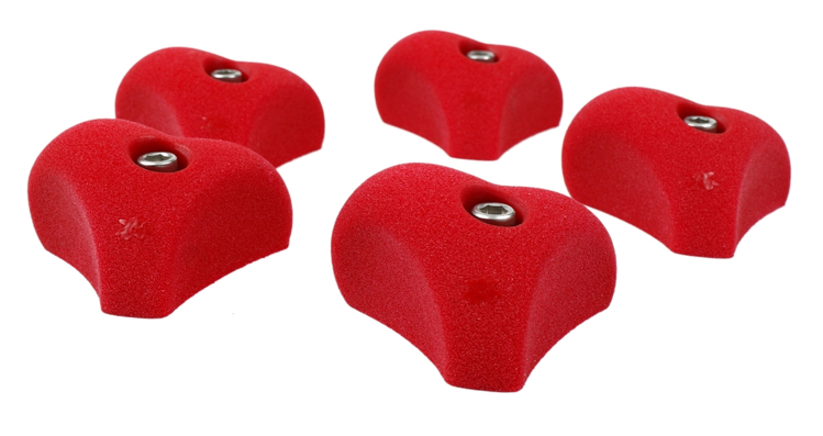 Picture of 5 Heart Mini Jugs (Bolt on)