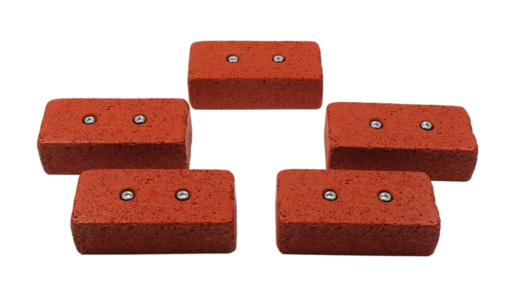 Picture of 2 Bolt Playground Climbing Hold - Brick - 5 Pack