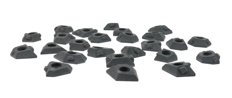Picture of 12 Super Small Hedron Tech Feet(From 25 pack)