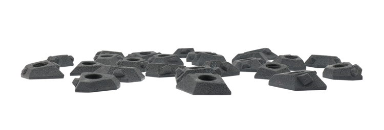 Picture of 12 Super Small Hedron Tech Feet (From 25 pack)