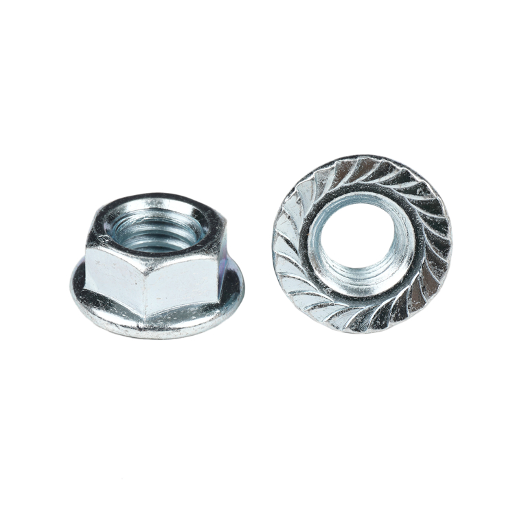 "Picture of 3/8""-16 Zinc Serrated Flange Nut"