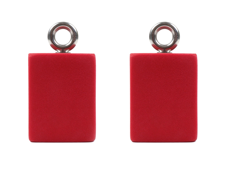 """Picture of DEAL OF THE DAY 3"""" Hanging Grip Training Blocks (Set of 2) BLACK AND RED SWIRL"""