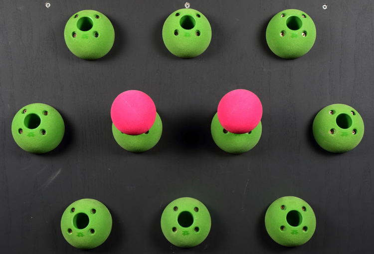 "Picture of DEAL OF THE DAY Peg Board Bombs / Balls 3.5"" ( Set of 2 ) GREEN"