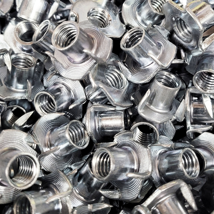 Picture of T-nut (4-Prong Zinc)