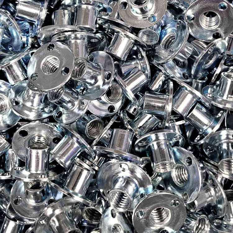 Picture of T-nut (Round Base Zinc)