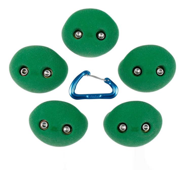 Picture of DEAL OF THE DAY 2 Bolt Playground Climbing Hold - Simple - 5 Pack  GREEN