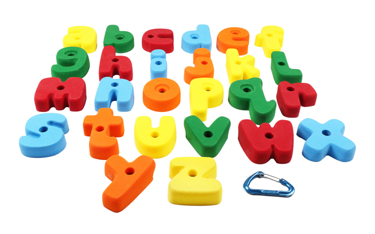 Picture of Medium Sized Letter Shaped Alphabet ABC Climbing Holds (Bolt-On)