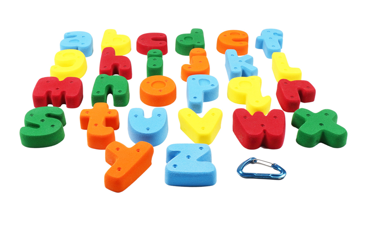 Picture of Medium Sized Letter Shaped Alphabet ABC Climbing Holds (Screw-On)