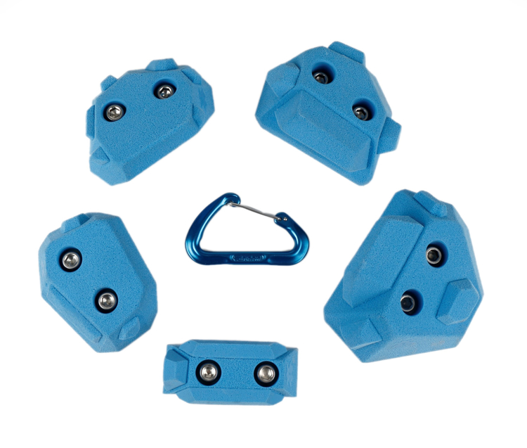 Picture of DEAL OF THE DAY 2 Bolt Playground Climbing Holds - Hedrons - 5 Pack BLUE
