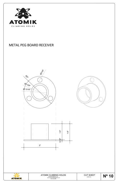 Picture of Metal Peg Board Receiver