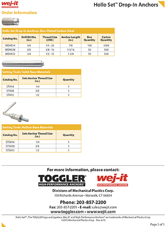 Picture of 3/8-16 Hollow Set Concrete Anchor Tool